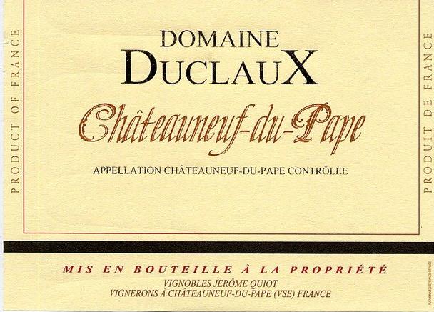 Célèbre DOMAINE DUCLAUX – CHATEAUNEUF DU PAPE – BLANC | Les Chais Saint  NW38
